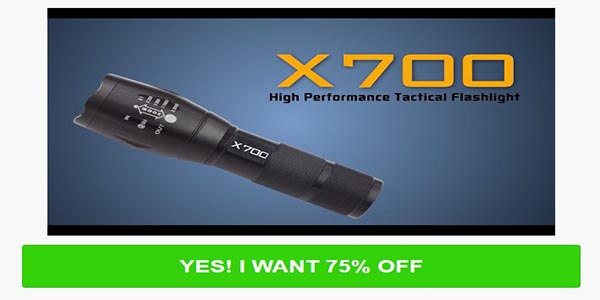 Cheap X700 Tactical Flashlight