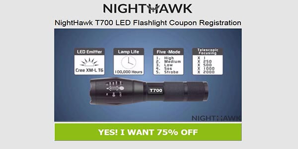 T700 Flashlight Discount