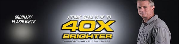 Atomic Beam Flashlight Brightness
