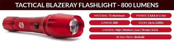 Blazeray Tactical Flashlight Features
