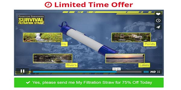 Filtration Straw Discounts