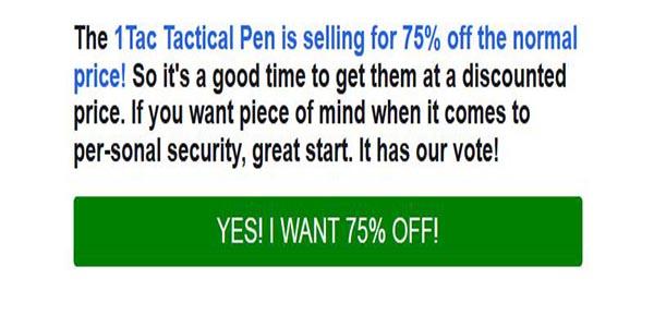 1Tac Tactical Pen Special Offer